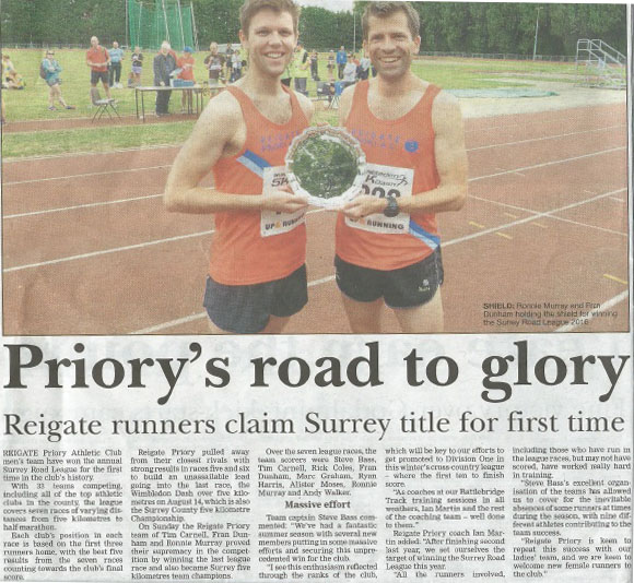 Surrey Mirror Article re SRL