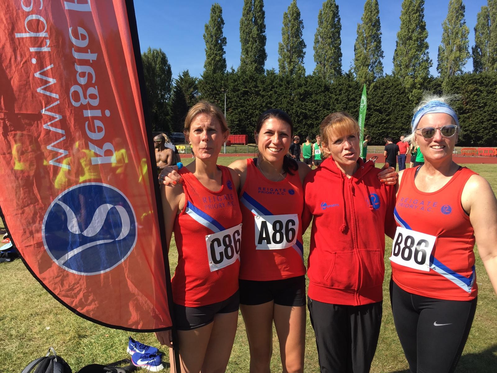 Surrey Road Relays 2019 W35 team